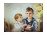 A Boy and Girl with a Kitten  1889