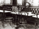 Paul Verlaine (1844-96) at a Table in a Cafe