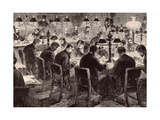The House of Commons: the Reporter's Room  from 'The Illustrated London News'  18th February 1882