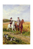 Couple Riding with their Dogs