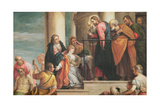 Raising of the Widow's Son of Nain  1651-56  Copy of Painting by Veronese