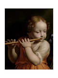Child Angel Playing a Flute  C1500