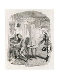 Captain Bath Making Posset  from 'Amelia'  Engraved by the Artist  Illustration from 'The Works…