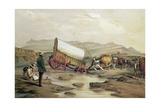 T662 Klaass Smit's River  with a Broken Down Wagon  Crossing the Drift  South Africa  1852