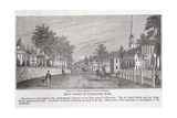 Main Street in Worcester  from 'Historical Collections of Massachusetts'  by John Warner Barber …