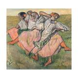 Three Russian Dancers Giclée par Edgar Degas