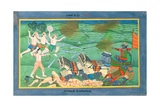 The Battle of Lanka  Between Rama and Ravana  King of the Rakshasas  from the 'Ramayana'  Early…
