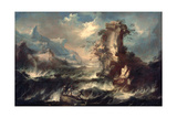 Italian Seascape with Rocks and Figures