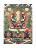 Thangka of Buddha Shakamunyi with Manjushri and Vajrapani
