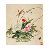 One of a Series of Paintings of Flowers and Insects  Late 19th Century