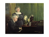 Edward Grieg (1843-1907) Accompanying His Wife  1898