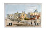 Broad Street  Oxford  Engraving  1793