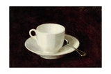 White Cup and Saucer  1864