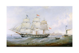 The Ship 'salacia' at the Mouth of the Tyne