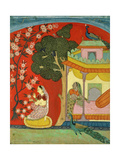 A Lady Plucking Blossoms  Southern Rajasthan or Deccan  C1675