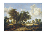 Wooded Landscape with Cottages  1665