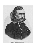 Major General George Armstrong Custer  Engraved from a Photograph  Illustration from 'Battles and…