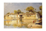 Palace and Lake at Sarkeh  Near Ahmedabad  India  C1882-83