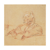 Man Playing a Flute  C1710