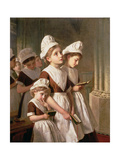 Foundling Girls at Prayer in the Chapel  C1877