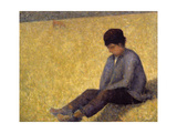 Boy Sitting on the Grass  C1882 (Oil on Canvas