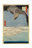 Eagle over 100 000 Acre Plain at Susaki  Fukagawa ('Juman-Tsubo')  from the Series '100 Views of…