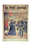 The French Hosts: the Arrival of the Queen of England at Cherbourg  Front Cover of 'Le Petit…