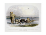 Dog-Sledges of the Mandan Indians  Plate 29 from Volume 1 of 'Travels in the Interior of North…