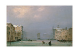 Grand Canal with Snow and Ice  1849