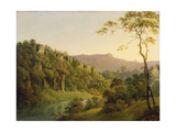 View in Matlock Dale  Looking Towards Black Rock Escarpment  C1780-5