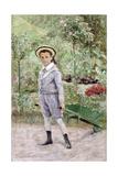 Boy with a Wheelbarrow  1880