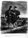 Faust and Wagner  Illustration for Faust by Goethe  1828