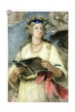 Mrs Billington as St Cecilia