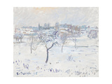 Snowy Landscape at Eragny with an Apple Tree  1895