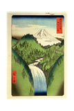 Fuji from the Mountains of Isu  No22 from the Series '36 Views of MtFuji' ('Fuji Saryu Rokkei')