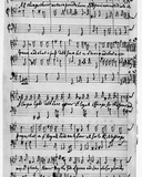 Music Score for a New Year's Song  Composed by Matthew Locke