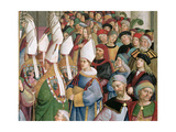 The Cardinals Processing Through the Crowd of Secular Onlookers  Detail from 'Aeneas Sylvius…