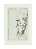 Head of a Man in a High Cap