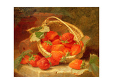 A Basket of Strawberries on a Stone Ledge  1888