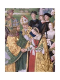 Aeneas Sylvius Piccolomini (1405-64) Presents Eleonora of Aragon to Frederick III (1415-93) …