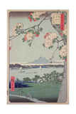 Suigin Grove and Masaki, on the Sumida River, from 'One Hundred Famous Views of Edo (Tokyo)', 1856 Giclée par Ando Hiroshige