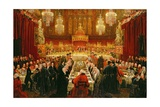 Banquet Given by the Corporation of London to the Prince Regent  the Emperor of Russia and the…