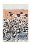 Ronin Attacking the Kiras Gate  Scene from Act Xi of 'Chiushingura Or the Loyal League: a…