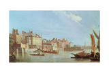 View Downstream from Westminster Bridge  C1774