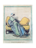 Pregnant Woman  Bump of Philanthropy  Caricature from 'Le Charivari'  C1840