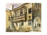 Gothic Balcony in the Courtyard of Klosterneuburg Abbey  C1840