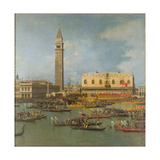 View of the Palace of St Mark  Venice  with Preparations for the Doge's Wedding