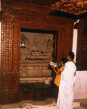 Young Girl Making an Offering at a Shrine in a Jain Temple