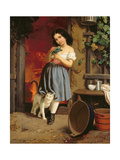 A Young Girl with a Cat  1866