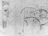 Studies for Ver Sacrum 1900 - Pallas Athene and a Tragic Head  1897-98